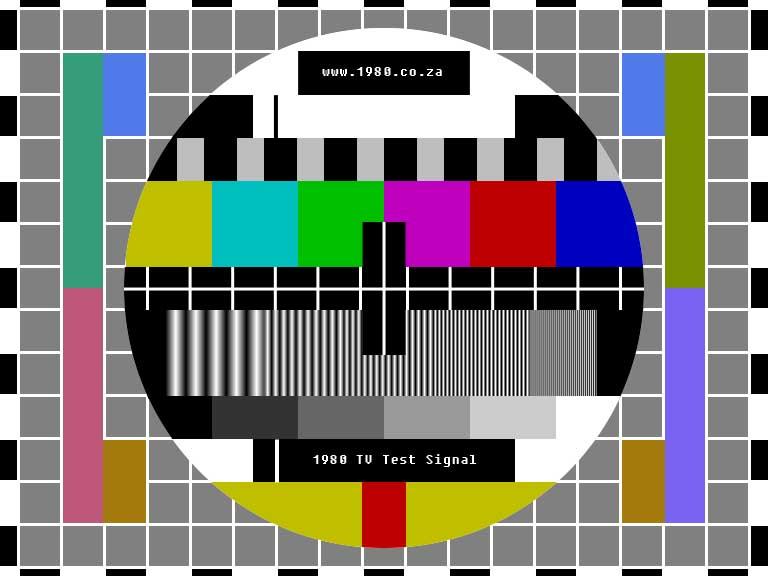80's TV Test Signal